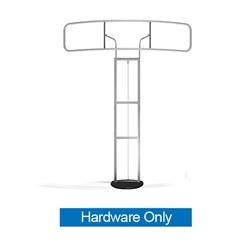 Standroid Hover Header Frame by Makitso Hardware Only. Monitor Stand for Exhibits, Conferences and Events. The Standroid Monitor Stand is a screen/monitor display stand with a heavy wooden base.
