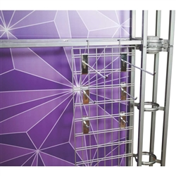 24in Orbital Express Truss Wire Rack. Orbital Express Truss Merchandising Wire Rack add functionality and options to any Orbital Truss kit. Accessories panels are an a la carte add on option for 10ft, 20ft and island Orbital kits.