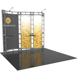 10ft x 10ft Mercury Orbital Express Trade Show Truss Display System with Fabric Graphics still provides good weight bearing capability along with the great look of a truss system. Truss is the next generation in dynamic trade show structure