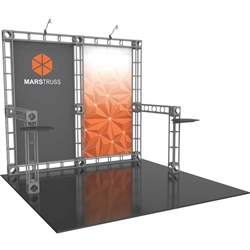 10ft x 10ft Mars Orbital Express Trade Show Truss Display with Fabric Graphics twist and lock system makes the Orbital Express Truss Display quite possibly the world's fastest truss to assemble. We also do custom design for Truss Displays