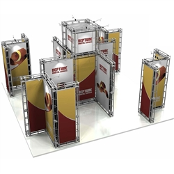 20ft x 20ft Island Neptune Orbital Express Truss Display Hardware Only is the next generation in dynamic trade show exhibits. Neptune Orbital Express Truss Kit is a premium trade show display is designed to be used in a 20ft x 20ft exhibit space