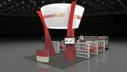 Custom trade show exhibit structures, like design # 67313 stand out on the convention floor. Draw eyes to your trade show booth with exciting custom exhibits & displays. We can customize any trade show exhibit or display to your specifications.