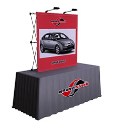 5ft x 5ft OneFabric PopUp Trade Show Display (Replacement Fabric without End Caps) represent one of the newest innovations in pop-up displays. It combines the easy setup of pop-up displays with digitally printed fabric graphic