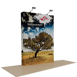 60in x 89in OneFabric Straight Popup Display End Caps (Graphic & Hardware) is very easy to assembly and include a full color graphic. They literally pop up in less than one minute! We also carry a full line of standard pop up displays