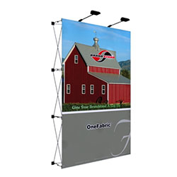 60in x 89in OneFabric Straight Popup Display Replacement Fabric without End Caps is very easy to assembly and include a full color graphic. They literally pop up in less than one minute! We also carry a full line of standard pop up displays