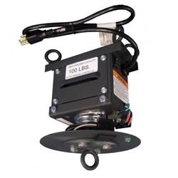 Hanging spinning motor with Power Outlet for hanging banners holds a maximum 100lb for signs up to10ft in diameter! Heavy Duty Rotation Motor for Hanging Banners and Signs, Put your hanging banner sign displays into motion with this 2 rpm rotation motor.