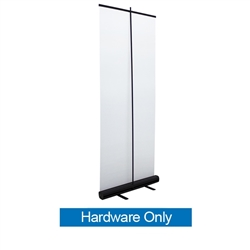 33.5in Economy Retractor Banner Stand Hardware Only Silver the most economical retractor on the market. Its lighter duty mechanism makes it appropriate for temporary displays or for advertising seasonal specials.
