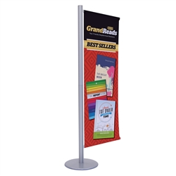 2ft x 6ft Flex Single-Banner Display Kit. This display's versatile central post can be customized with banners and lit racks. We've created three kits to get started, but add-ons are interchangeable so you can create your own configuration.