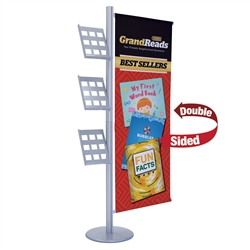 3ft x 6ft Flex Single-Banner Display Kit. This display's versatile central post can be customized with banners and lit racks. We've created three kits to get started, but add-ons are interchangeable so you can create your own configuration.