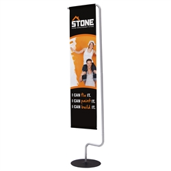1ft x 5ft Monopode Flag Display Kit. Swapping out graphics is virtually effortless with this stylish flag display.