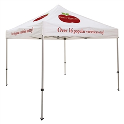 Ultimate Aluminum 10' x 10' Event Tent Kit (Full-Color Imprint, 8 Locations)