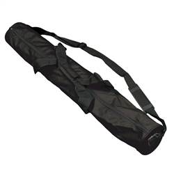 38 in (h) x 5 in (Dia)  Table Throw Tubular Carrying Case allows you to tote your throws, covers and runners conveniently without hassle. The case is incredibly durable and weather resistant. Simply roll the cover over a shipping tube and slip into
