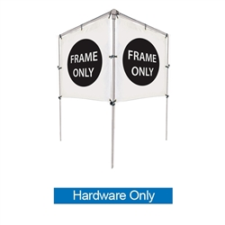 Get your outdoor message noticed! For maximum impact and visibility, In-Ground V-Shape Banner Frame Hardware Only 5ft h x 6ft w are an excellent way to display banners. All pieces of the lightweight all-steel frame snap together for easy assembly.