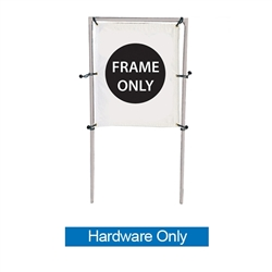 Get your outdoor message noticed! For maximum impact and visibility, In-Ground Single Banner Frame Hardware Only 5ft h x 4ft w are an excellent way to display banners. All pieces of the lightweight all-steel frame snap together for easy assembly.