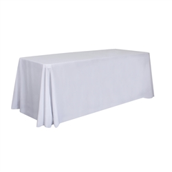 6ft Stain Resistant Economy Throw Unimprinted sit comfortably behind your table with this open back design. Custom table throws and logo table runners will give your booth a tidy appearance that will draw in attendees