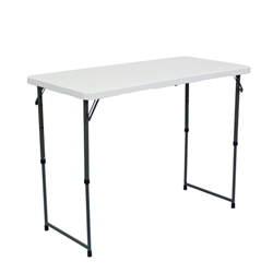 Showgoer 4ft Folding Demo Table is non-printed as a trade show accessory. Our Foldable Counter Height Tables for your next trade show event today. Showgoer 4 Ft Demo Tables are event accessories  to promote your next trade show event.