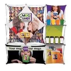 Deluxe Geometrix 8ft Fabric Trade Show Display Kit with 4 Banners is one of the more unique product offerings at xyzDisplays. Xpressions series offers many of the features the exhibitors look for in a high quality trade show backwall popup fabric displays