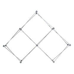 7ft Deluxe Geometrix 3 qd Pyramid Exhibit Frame Kit is one of the more unique product offerings at xyzDisplays.com but has been a huge hit with our customers! The Geometrix series offers many of the features the exhibitors look for in a high