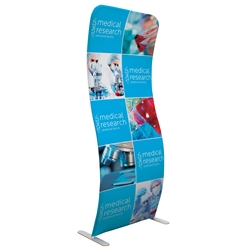 Eurofit S Shape Tension Fabric Banner Display Kit will command attention at any trade show or event. Fabric banner stands features one of the most unique designs on the market. Banner stands look great as an addition to portable display or exhibit