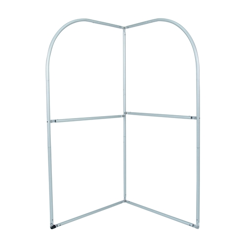 EuroFit Backwall Corner Tension Fabric Exhibit Hardware Only will command attention at any trade show or event.  EuroFit backwall corner is a simple add on display that can transform your standard backwall into a complete exhibit booth.