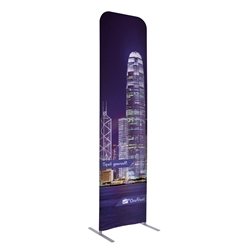 2ft x 90in EuroFit Straight Wall Floor Tension Fabric Display Kit. The uniqueness of a tension fabric display is evident when you see one on the trade show floor.
