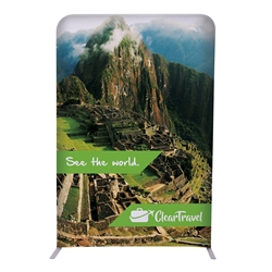 4ft x 72in EuroFit Straight Wall Floor Tension Fabric Display Kit. The uniqueness of a tension fabric display is evident when you see one on the trade show floor.