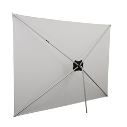 Travel anywhere with this lightweight and portable 8ft Traverse Fabric BackWall Display! Unique center hub system allows frame to fold completely for easy storage and transport, Shock-corded tubing makes assembly and disassembly a snap