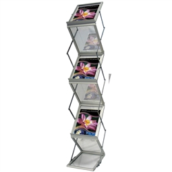 This unique literature display is actually two-sided! Z Literature Holder Display is Literature Holders for Creative Displays. Shop extensive selection of magazine & brochure holders for your next trade show or event.