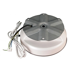 IR-50 Display Turntable Rotating Wires low profile turntable is rated to turn 50 lbs with a larger 9 inch diameter turntable plate. Features include a 6-foot power cord and a safety clutch to prevent damage to the motor when turning motion is obstructed.
