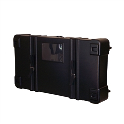 42in W x 30in D x 8in H SOLO Expo Shipping Case will serve as the perfect storage and protection for shipping your SOLO displays, graphics, and accessories.  Thermoformed, with wheels, and heavy duty handle.