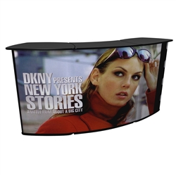QUATTRO Connector Kit Trade Show Counter Display with Graphics help add storage and visibility to your trade show booth display. Our trades show counters and podiums offer great style and functionality for your trades show or special events.
