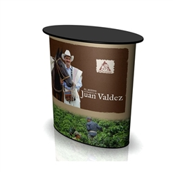 SOLO Zero Counter Display with Complete Wrap Graphic will serve perfectly as the base of your trade show or retail display. Counters and Pedestals provide trade show exhibits with the accessories they need to complete areas of presentation in exhibits