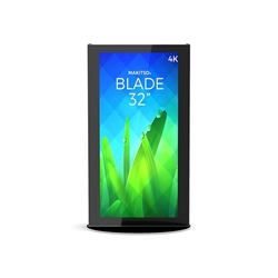 32in Makitso Mini Blade Black Digital Signage Screen Displays MINB32 Vertical Mode eliminate the need for printing new banners and will provide a strong and elegant presence at your trade show, retail or corporate locations as well as high traffic areas s