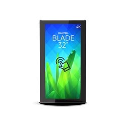 32in Makitso Mini Blade Black Touch Screen Digital Signage Vertical Mode eliminate the need for printing new banners and will provide a strong and elegant presence at your trade show, retail, corporate locations as well as high traffic areas