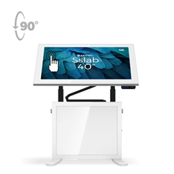40in Makitso Sslab Touchscreen Interactive Digital Signage Screen White Table Display with Android Interface. Create a memorable experience for students, hotel and restaurant patrons, potential clients at trade shows with customized touch screen tables.