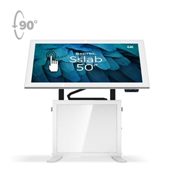 50in Makitso Sslab Touch Screen Interactive Digital Signage Screen White Table Display with Pro content driver. Create a memorable experience for students, hotel and restaurant patrons, potential clients at trade shows with customized touch screen tables