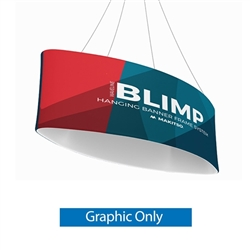 110ft x 24in MAKITSO Blimp Ellipse Hanging Tension Fabric Banner Double Sided Graphic Only. Hanging Banner Displays: high-quality print graphic, lightweight aluminum frame, largest variety of Ellipse Hanging signs for trade shows.