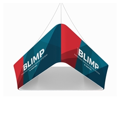 10ft x 24in MAKITSO Blimp Trio Tapered Hanging Tension Fabric Banner Single Sided.  Blimp series of hanging signs and displays is an affordable solution for the trade shows. The sign combine the high quality materials with a new lower price.