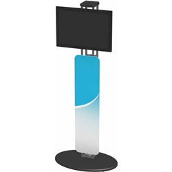 Orbital Express Truss Monitor Kiosk 01 Displays will highlight your video presentation at your next event! Create excitement and movement at your events with Trade Show Display Kiosks and Monitor Kiosks that support your multi-media presentations!