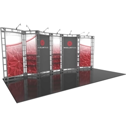 10ft x 20ft Inline Magellan Orbital Express Trade Show Truss Display Hardware Only is a complete truss exhibit, professionally designed to fit a 10ft × 20ft trade show booth space. Orbital truss displays are most popular trade show displays