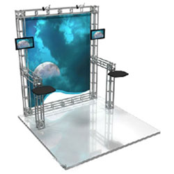 10 x 10 Custom Truss Exhibit - Display Design # 02760