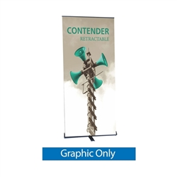Replacement Vinyl Banner for 24in Contender Mini Silver Retractable Banner Stand.It is the perfect addition to any trade show or event display, exhibit, booth. High quality of Retractable, Roll Up Banner Stands, Pull Up Banners single or double sided