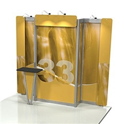 Linear 10ft x 10ft Kit 33 Trade Show Display provides the looks, style and sophistication of a custom exhibit with the ease, convenience and value that you're looking for. The Linear range of portable exhibits is designed to ship with minimal lead time