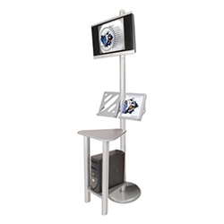Linear Monitor Trade Show Kiosk Kit 2 Compliment your Linear Trade Show Display while adding excitement and attention to your trade show booth with these sleek attractive Linear Monitor Trade Show Kiosk Kit . Each Linear Monitor Trade Show Kiosk Kit