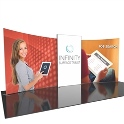 20ft Formulate Designer Series Backwall Tension Fabric Display Kit 02 offer you a quick and professional look for your trade show booth. Formulate Designer Series Backwall Displays with built in counter cost-effective trade show backdrops