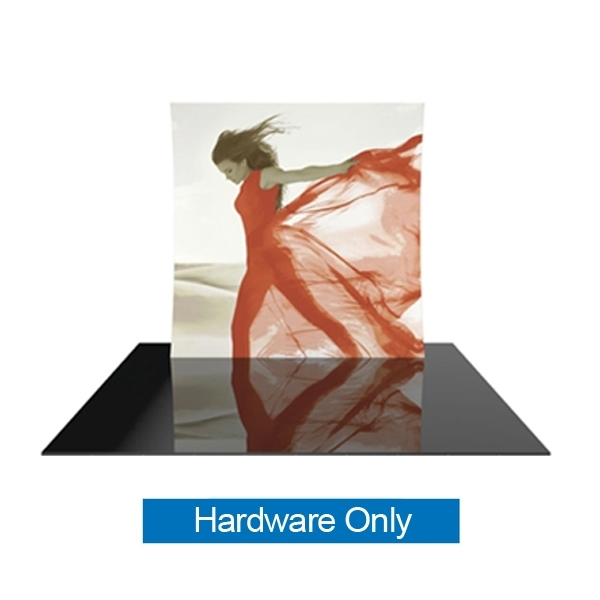 Formulate 8V 8ft Vertically Curved Backwall Display Hardware Only includes the fitted tension fabric graphic, frame hardware and hard shipping case. Formulate Displays are available in three layouts: straight, horizontally curv