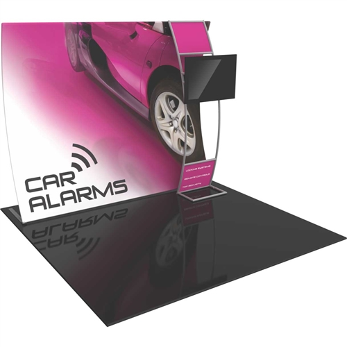 Orbus Formulate VC8 10ft Vertically Curved Fabric Backwall with Stand-off Monitor Mount Ladder offers a large format graphic area to get you noticed at your events! Formulate Tension Fabric Backwall Displays feature 15 different layouts to choose from!