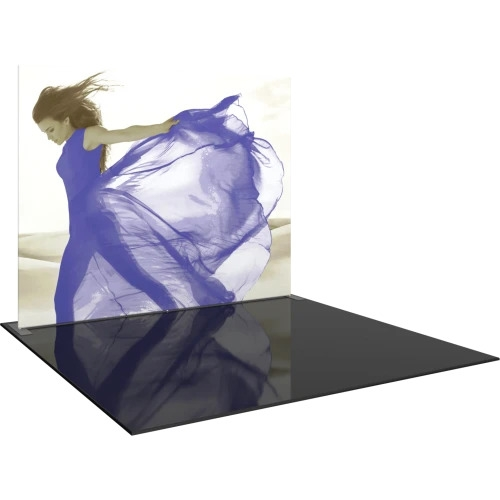 Formulate S1 10ft Straight Backwall Single Sided Tension Fabric Display. We offer fabric trade show banners, stretch fabric trade show booth kit, fabric tradeshow booth walls, hop up tension fabric display, showstopper exhibits, stretch display fabric