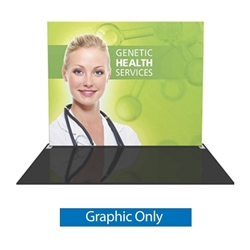 Replacement Fabric for Formulate S1 10ft Straight Backwall Single Sided Display. We offer fabric trade show banners, stretch fabric trade show booth kit, fabric tradeshow booth walls, hop up tension fabric display, showstopper exhibits