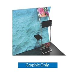 Graphic for Formulate Stand-off Monitor Mount with Table. Quickly attach a flat-screen display to your trade exhibit with the Formulate Stand-off Monitor Mount with Table.
